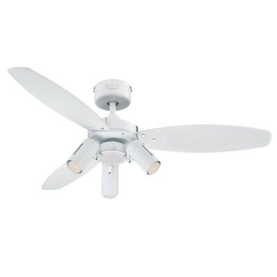 """Westinghouse Jasmine 105cm// 42/"""" Ceiling Fan with Light and Remote Control"""