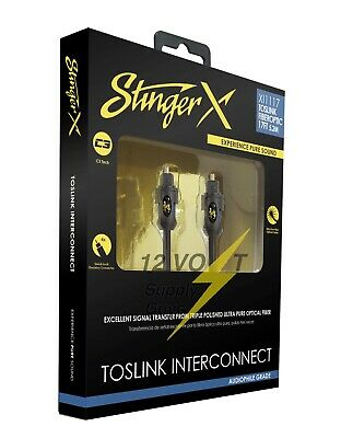 Stinger XI116 6ft Fiberoptic Cable with TosLink Connectors