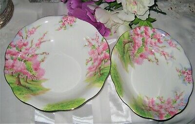 Royal Albert - Blossom Time -Oval and Round Vegetable Bowls (2)