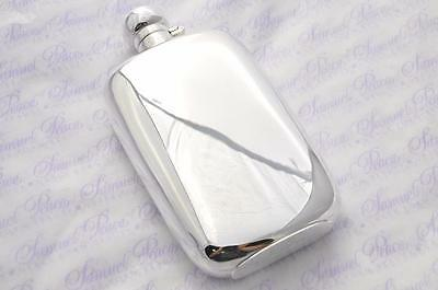 Sterling Silver Oval Hip Flask Bayonet Top 8oz 2016 Sheffield England !