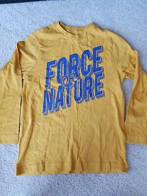 """Crazy 8 Boys Long Sleeve Shirt """"Force Of Nature"""" New Without Tags"""