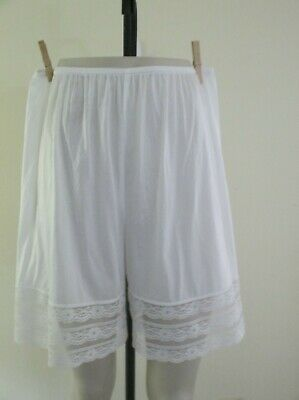 Vintage Blair Pettipants White Panties Bloomers Size Large 100% Nylon Usa Made