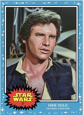 Topps Star Wars Living Set Card #21 - Han Solo - GREAT COLLECTION