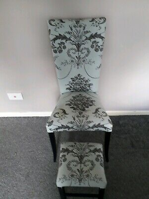 Single Chair And Footstool Good To Upcycle