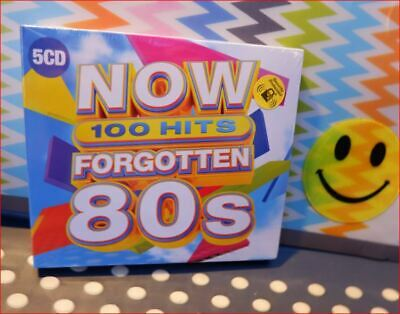 5xCD New 2019 Fast Freepost 100 Hits: Forgotten 80s Now That's What I Call Music