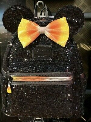 Disney Parks Halloween 2019 Minnie Mouse Candy Corn Mini Backpack Loungefly