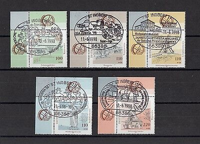 433 ) Germany 1997  Old mills - 5 beautiful Stamps fantastic full stamp