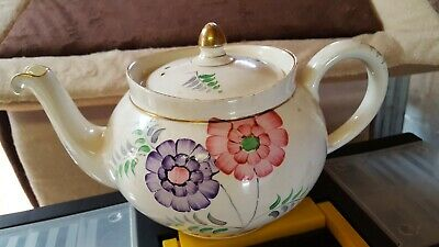 Rare Vintage Teapot,Bridgwood,Non Drip,Lovely Design/Motive