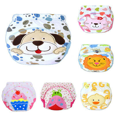HR- Baby Cartoon Reusable Washable Diaper Infant Children Training Pants Nappy C