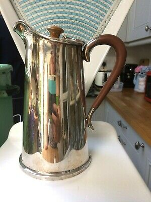 Brook & Son Antique Silver Plated Epns Coffee Pot Hot Water Jug/Flask 1891 -1941