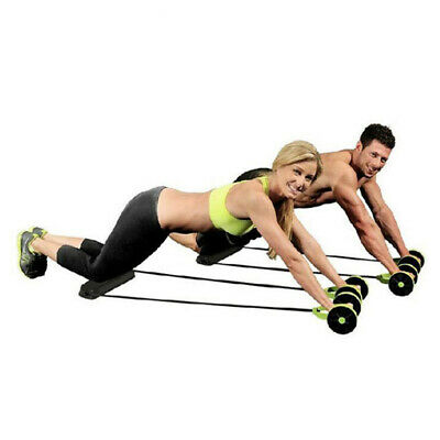 Abdominal Waist Slimming Trainer Exerciser Roller Core Double AB Wh GT