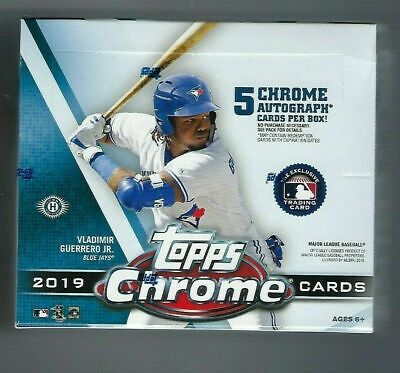 2019 Topps Chrome Baseball Factory Sealed Hobby Jumbo HTA Box