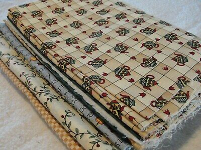 TEAPOTS & CARDINALS Fabric Collection From Debbie Mumm 5 Yards