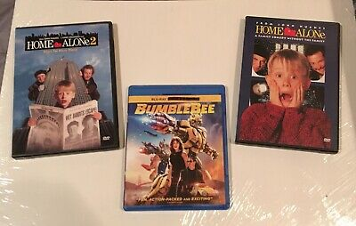 Transformers Bumblebee (BluRay) Plus Bonus Home Alone 1 and 2 DVD Movies.....