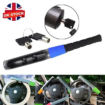 Car Van Baseball Bat Style Steering Wheel Lock Universal Security Locks Blue