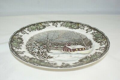 "Johnson Bros England Friendly Village School House 9 7/8"" Dinner Plates Lot of 4"
