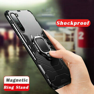 For Samsung Galaxy Note 10 Plus 9 S10 Magnetic Ring Hybrid Hard Armor Case Cover