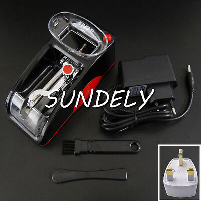 DIY Electric Automatic Cigarette Roll Machine Tobacco Injector Make Roller Red