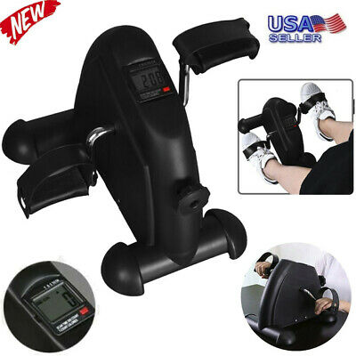 MINI Exercise Bike Pedal Stepper Tabletop Leg Total Body Cycle w/ LCD Display