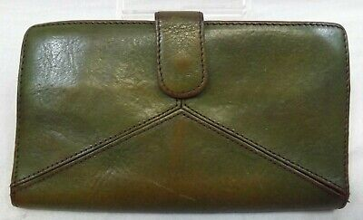 WILSON LEATHER GREEN Wallet, Large, BIFOLD CLUTCH