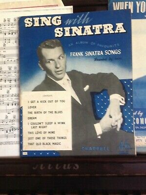 """""""Sing along with Sinatra"""" musical score"""