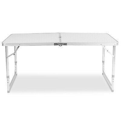 4Ft Camping Catering Heavy Duty Folding Table Trestle Picnic Bbq Party White New