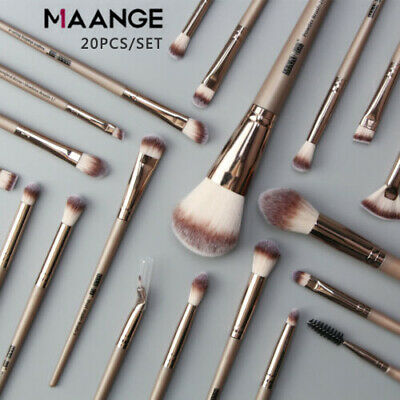 20pcs Pro Makeup Brushes Kit Powder Foundation Eyeshadow Eyeliner Lip Brush YB