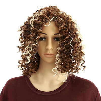New Women fashion long full-wave front lace wig African wind curl natural wig