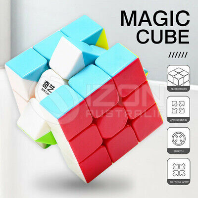 Magic Cube 3x3x3 Magic Rubiks Puzzle Rubics Rubix Toy Smooth Fast Speed for Kids