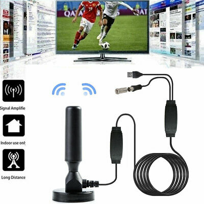 300Mile HDTV Indoor Antenna Aerial HD Digital TV Signal Amplifier Booster Cable