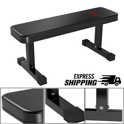 Flat Weight Bench Sports Barbell Dumbbell Chest Press Lifting Home Gym Straight