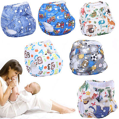 Washable Baby Cloth Diapers Cover Infant Kids Adjustable Reusable Nappy