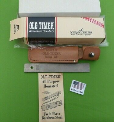 """Schrade USA made HS1 Old Timer """"Honesteel"""" MINT in Box"""