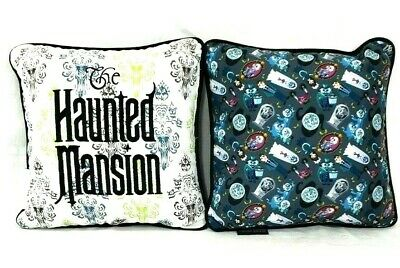 Disney Parks Haunted Mansion Two Sided Throw Pillow Attraction Characters New
