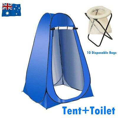 Outdoor Portable Folding Toilet Camping Shower Tent Pop Up Change Room Potty Bag