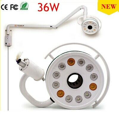36W Wall Hanging LED Surgical Medical Exam Light Shadowless Lamp 5500k 40,000 lx