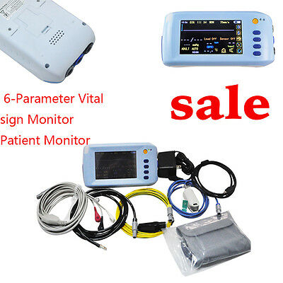 5-Paras 5In Vital signs Patient Monitor ECG EKG NIBP Spo2 PR+USB  Touch Screen