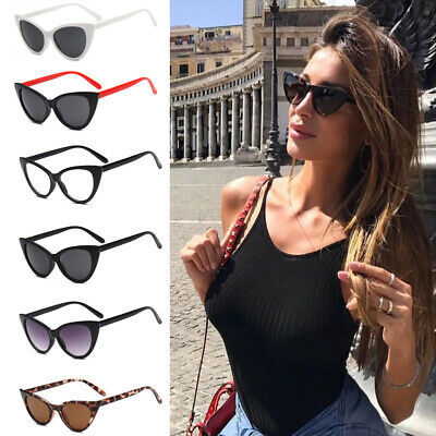 Women Vintage Cat Eye Sunglasses Retro Small Frame Eyewear Fashion Shades Ladies