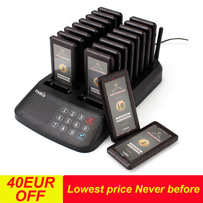 TIVDIO Customer Call System Waterproof Wireless Guest 18*Pager for Restaurant UK