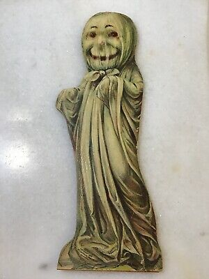 VINTAGE ANTIQUE WOOD 1902 HALLOWEEN GHOST DISPLAY WEIRS SCARY MONSTER McLOUGHLIN
