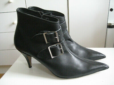 Vintage 1980s Gothic Pikes UK7 39 New Wave Winklepicker Punk Pointy Buckle Boots