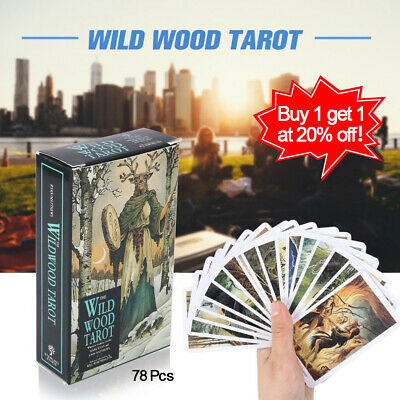 78Pcs Cards Wild Wood Tarot Cards Beginner Deck Vintage Fortune Telling HY1