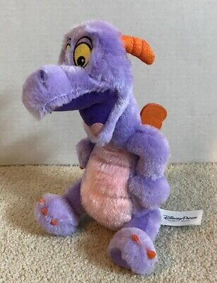 "Dragon Disney Parks 9"" Tall Soft Stuffed Plush Purple Figment Epcot Imagination"