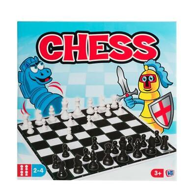 Traditional Classic Chess Kids Family Learn Logical Skills Strategy Board Game
