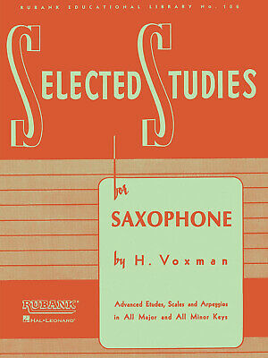 Rubank Selected Studies Saxophone Book Only