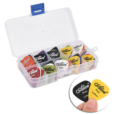 50Pcs/Set Electric Guitar Pick Acoustic Music Picks Plectrum Guitar Accessory+M