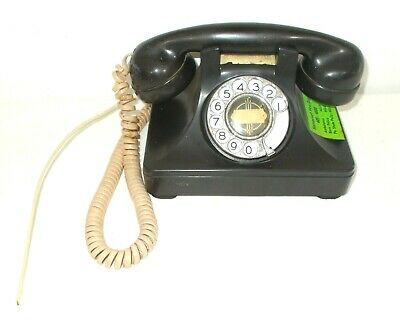 Vintage Black Bakelite North Electric Rotary Dial Desk Telephone