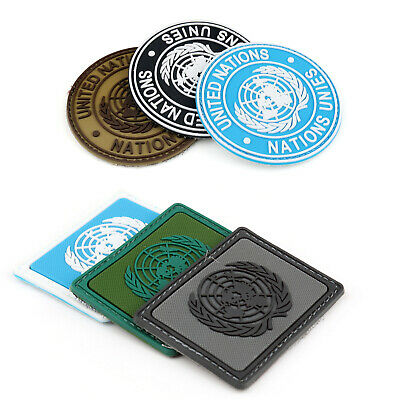 Un United Nations U.N. Badge Parche Tactical Army Airsoft Hook Loop Patch Circle