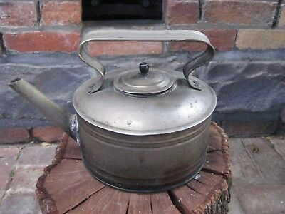 Metal Kettle Decor Piece (Antique) Unusual Early 20th Century - Small Leak