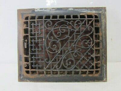 Antique Cast Iron Floor Grate w/Damper- Aesthetic Design  ASG#31